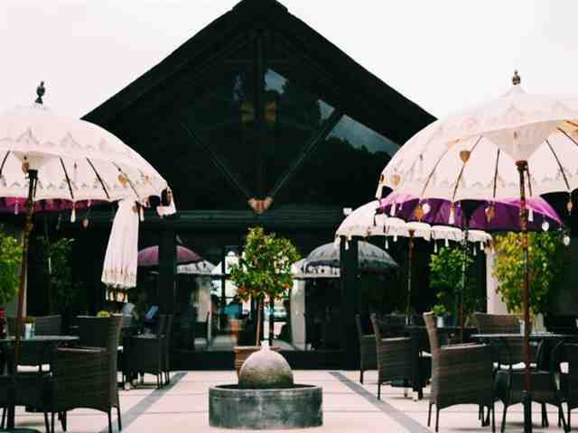 Estar ao ar livre no Restaurante Samsara