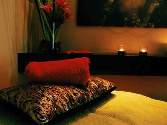 Sala de tratamento no Shanti-Som Spa