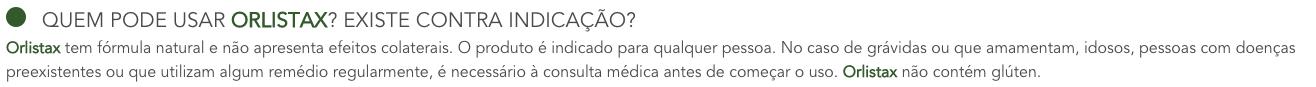 orlistax indicacoes