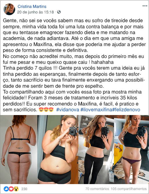 MAXIFINA DEPOIMENTOS